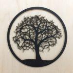 Obraz na zeď dřevo strom černý