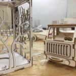 Stavebnice auto a stínítko